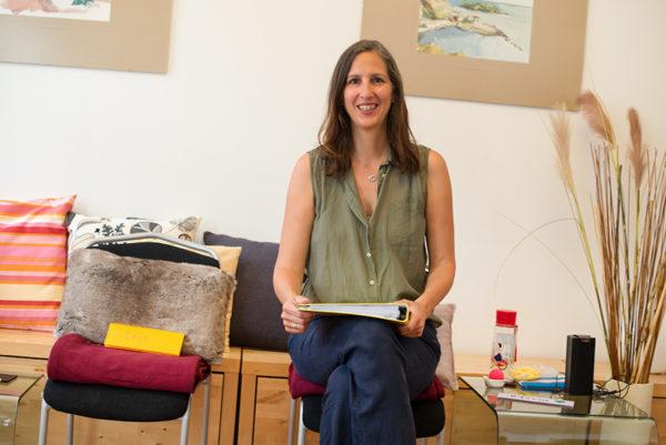Olivia Wollinger als Workshop-Leiterin