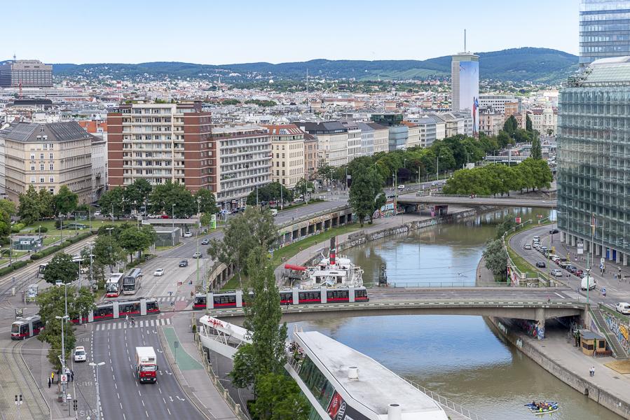 Der Ausblick über Wien macht Freude.